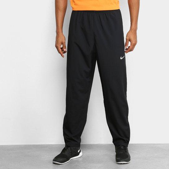 Calça Nike Run Stripe Woven Masculina - Preto+Prata