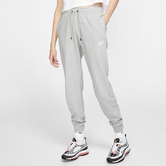 Calça Nike Sportswear Essential Feminina - Cinza+Branco
