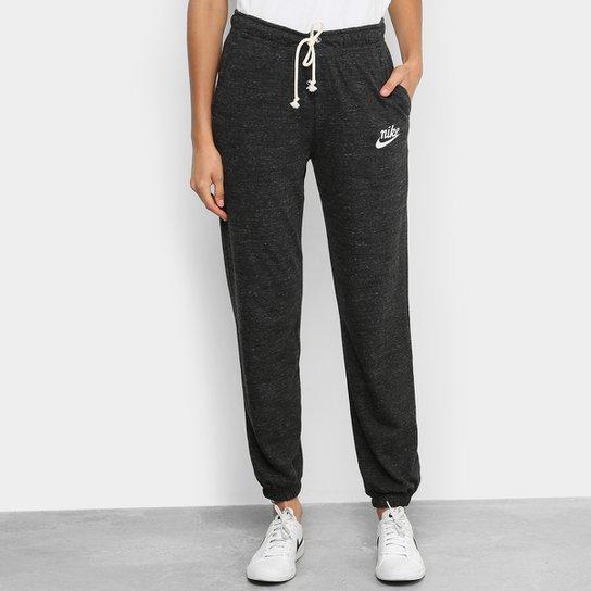 Calça Nike Sportwear Gym Vintage Feminina - Preto+Branco