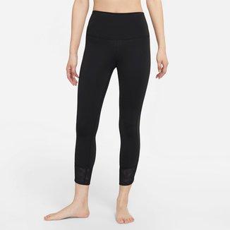 Calça Nike Yoga Dri-fit 7/8 Mesh Cintura Alta Feminina