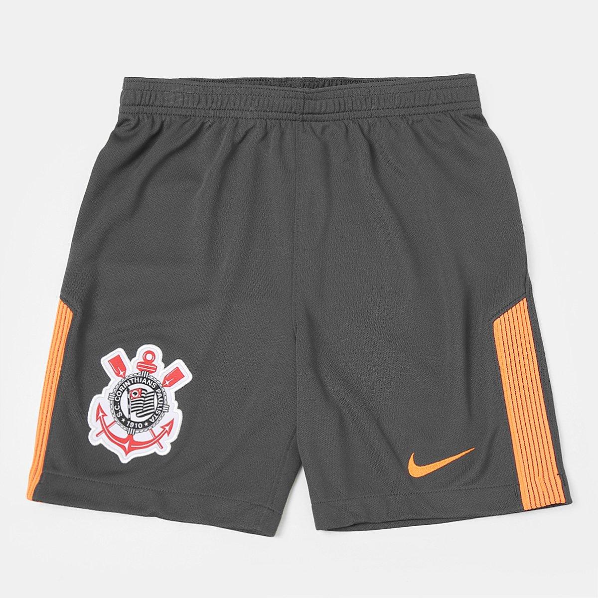 Calção Corinthians Infantil III 17 18 Nike - Compre Agora  82f4d34ef7a2c