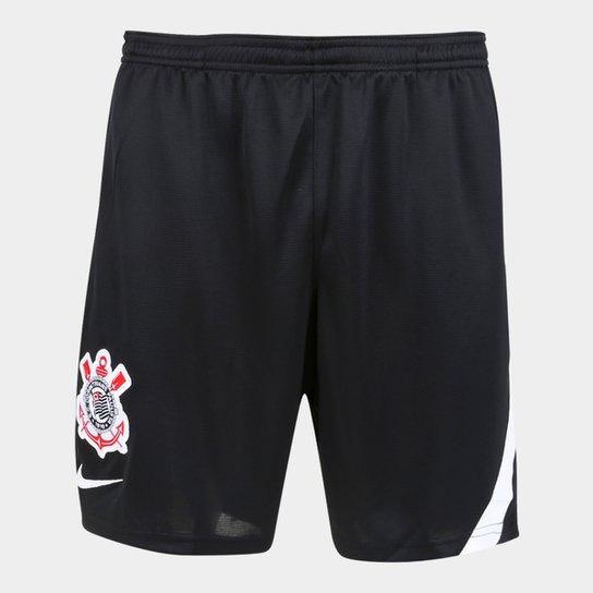 Calção Corinthians Treino 20/21 Nike Masculino - Preto+Branco