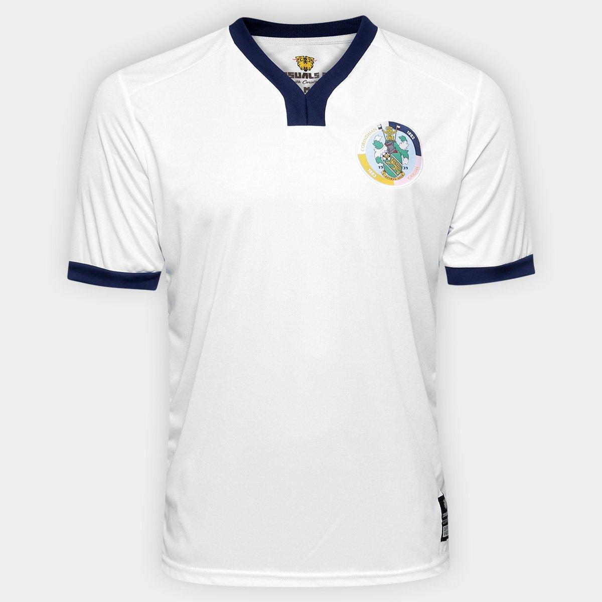 Camisa Corinthian Casuals Away 17 18 - Torcedor Masculina - Branco ... b5f03e1f6b8bf