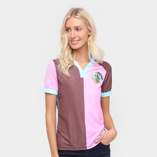 Camisa Corinthian Casuals Home 17/18 Torcedor Feminina - Marrom+Rosa