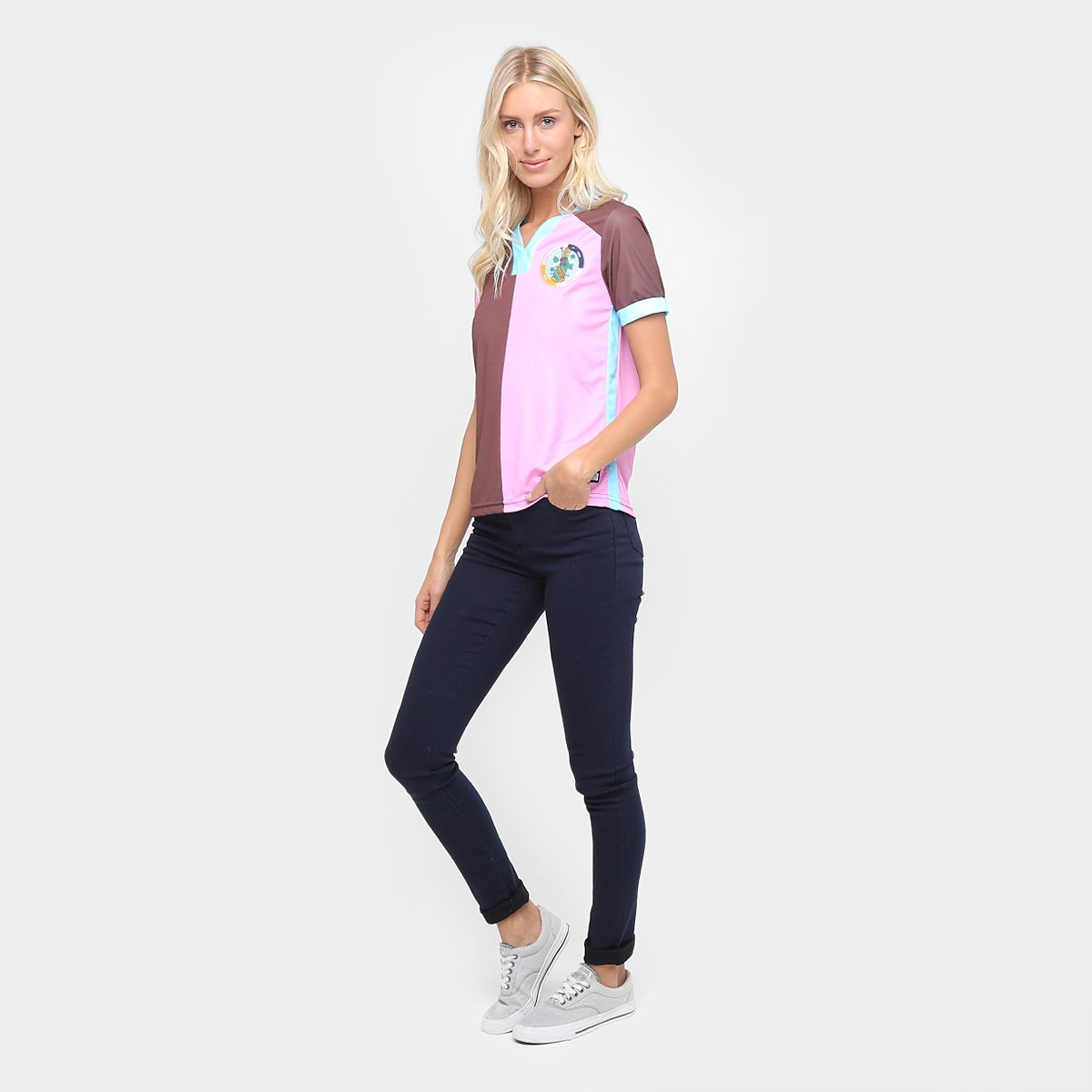 Camisa Corinthian Casuals Home 17 18 Torcedor Feminina - Marrom e ... 830eaac7c19b4