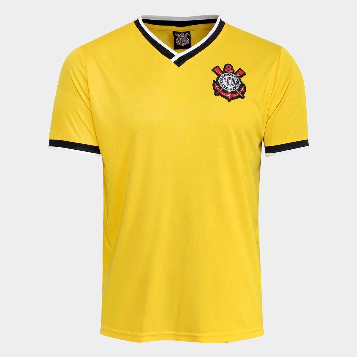 Camisa Corinthians 2014 n° 10 Edição limitada Masculina - Amarelo ... 7ea1d70768e82
