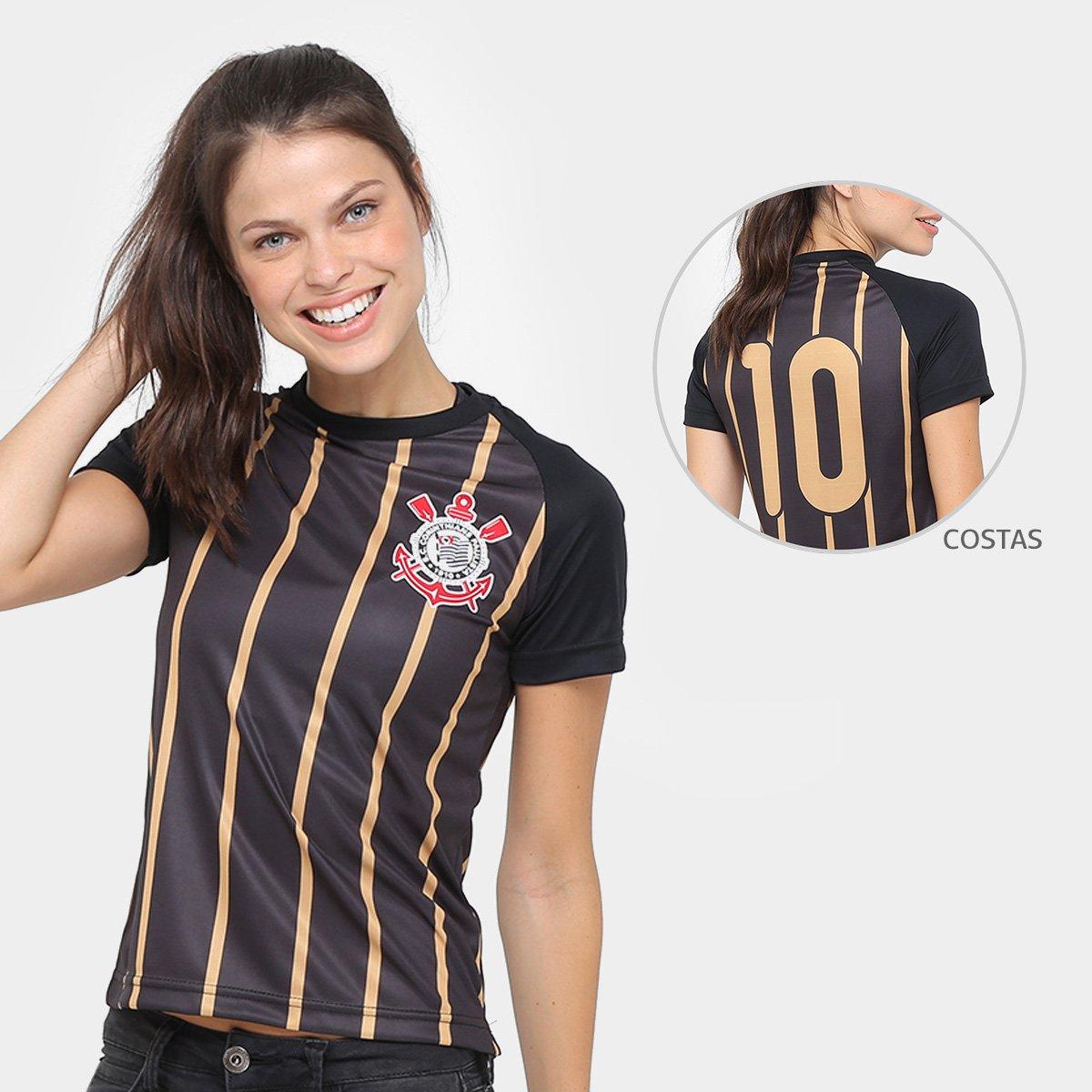728ed64cca Camisa Corinthians Gold - Edição Limitada Feminina - Compre Agora ...