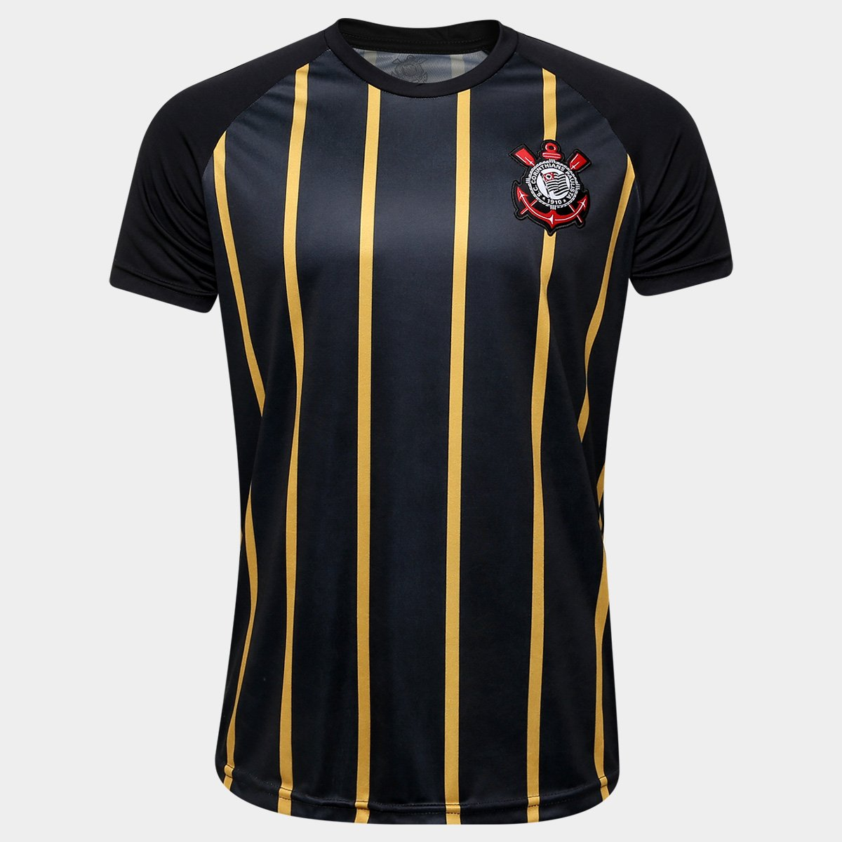 Camisa Corinthians Gold - Edição Limitada Masculina - Preto+Dourado 70575f7f0f60b
