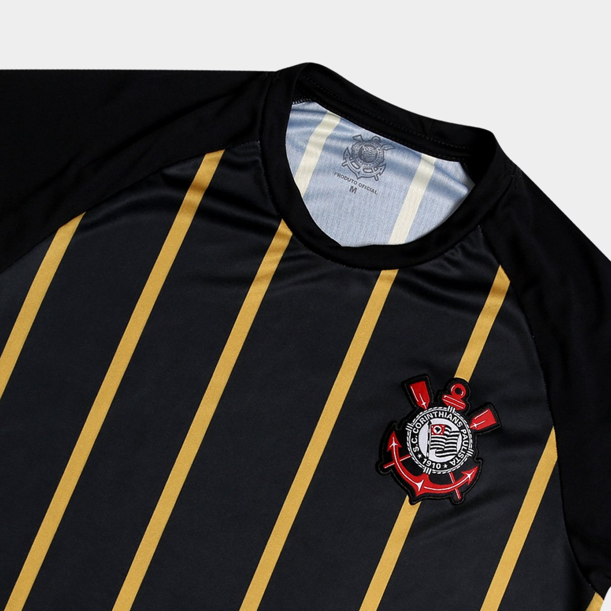 Camisa Corinthians Gold - Edição Limitada Masculina - Preto e ... fc0feb36de5e5