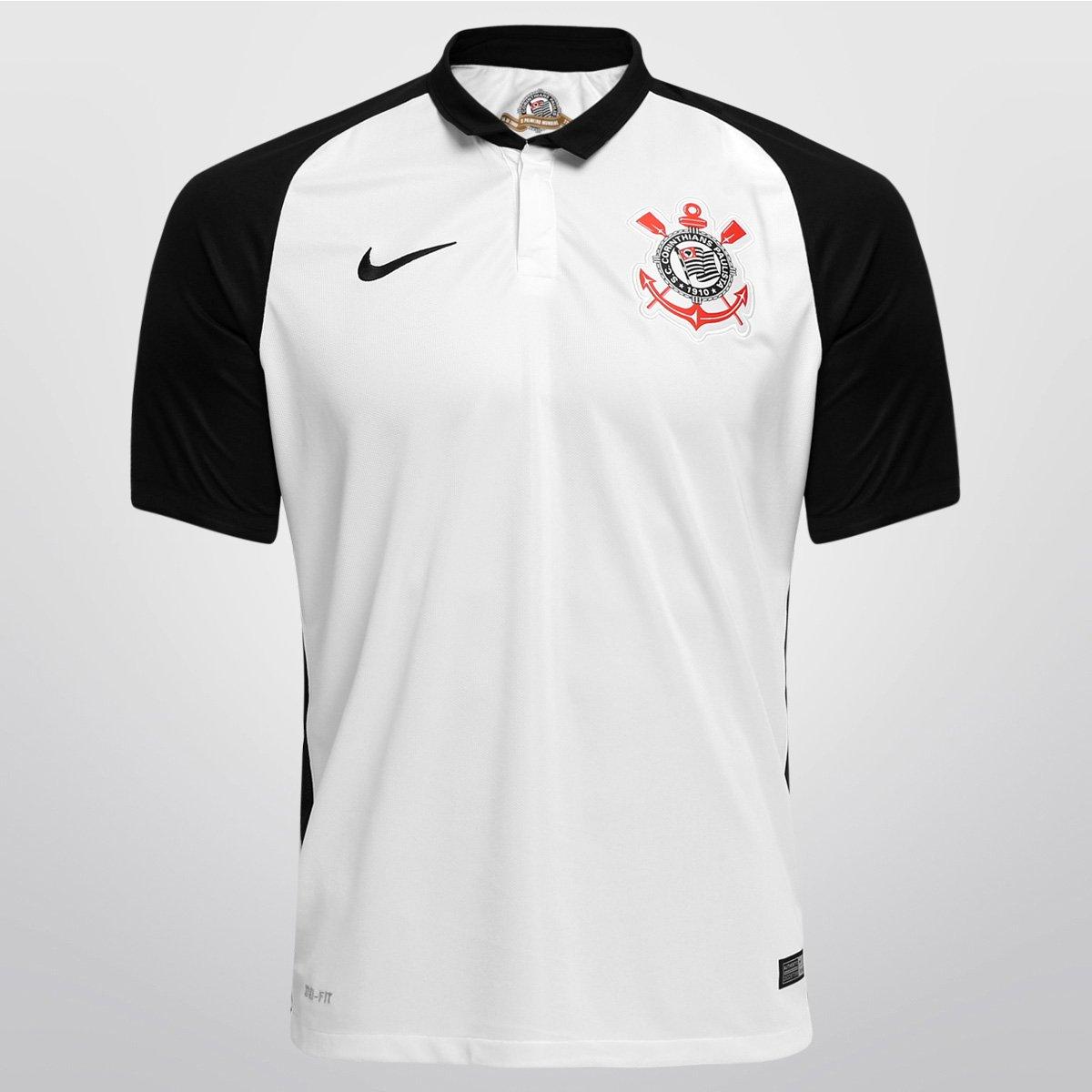 Camisa Corinthians I 15 16 s nº - Torcedor Nike Masculina - Compre ... a7c79188273cd