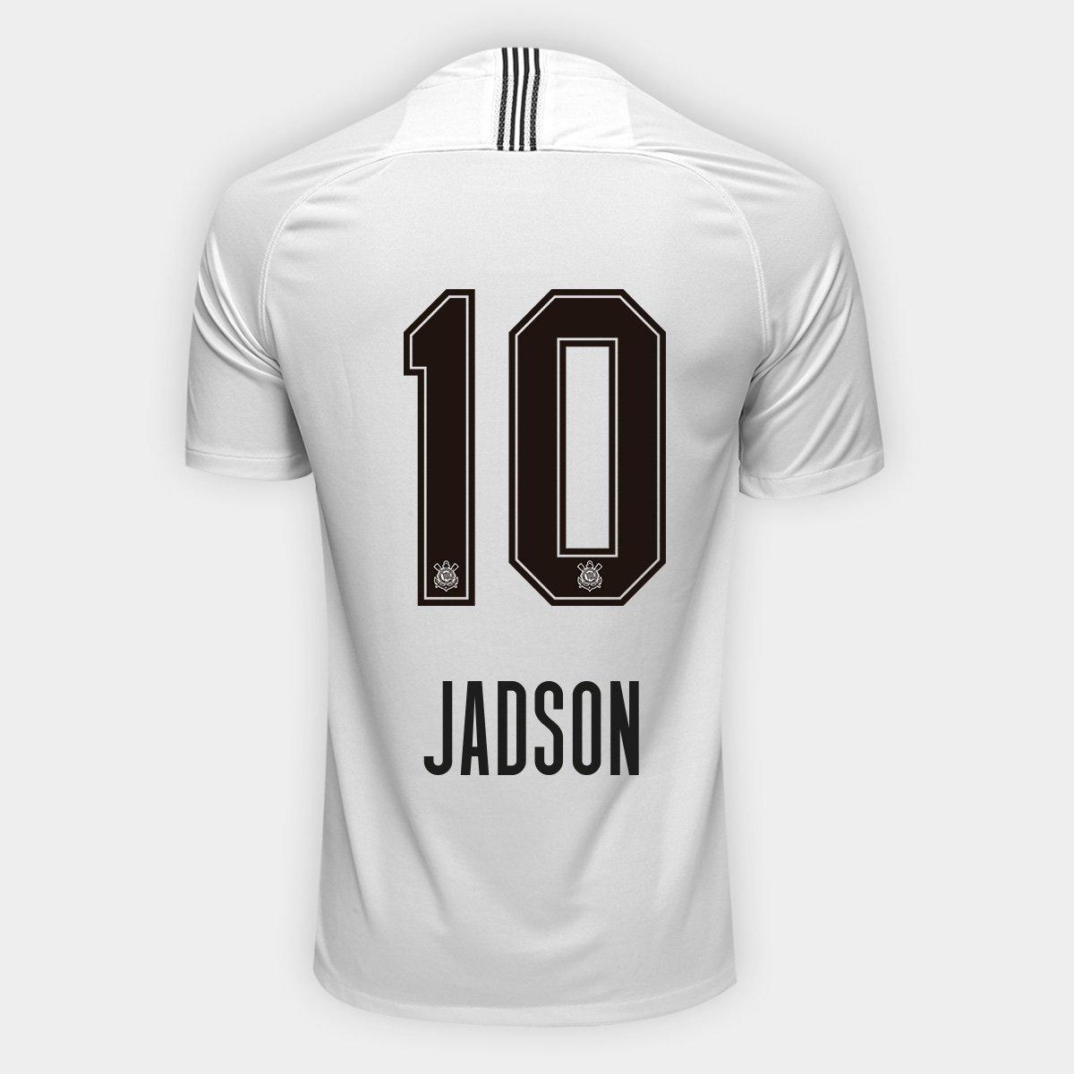 Camisa Corinthians I 18 19 Nº 10 Jadson - Torcedor Nike Masculina ... 3c36470129e05