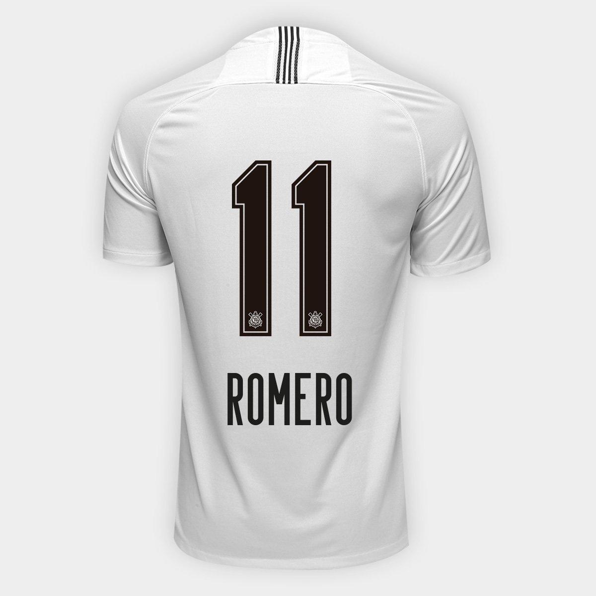 c9db96249d443e Camisa Corinthians I 18/19 Nº 11 Romero - Torcedor Nike Masculina   Shop  Timão