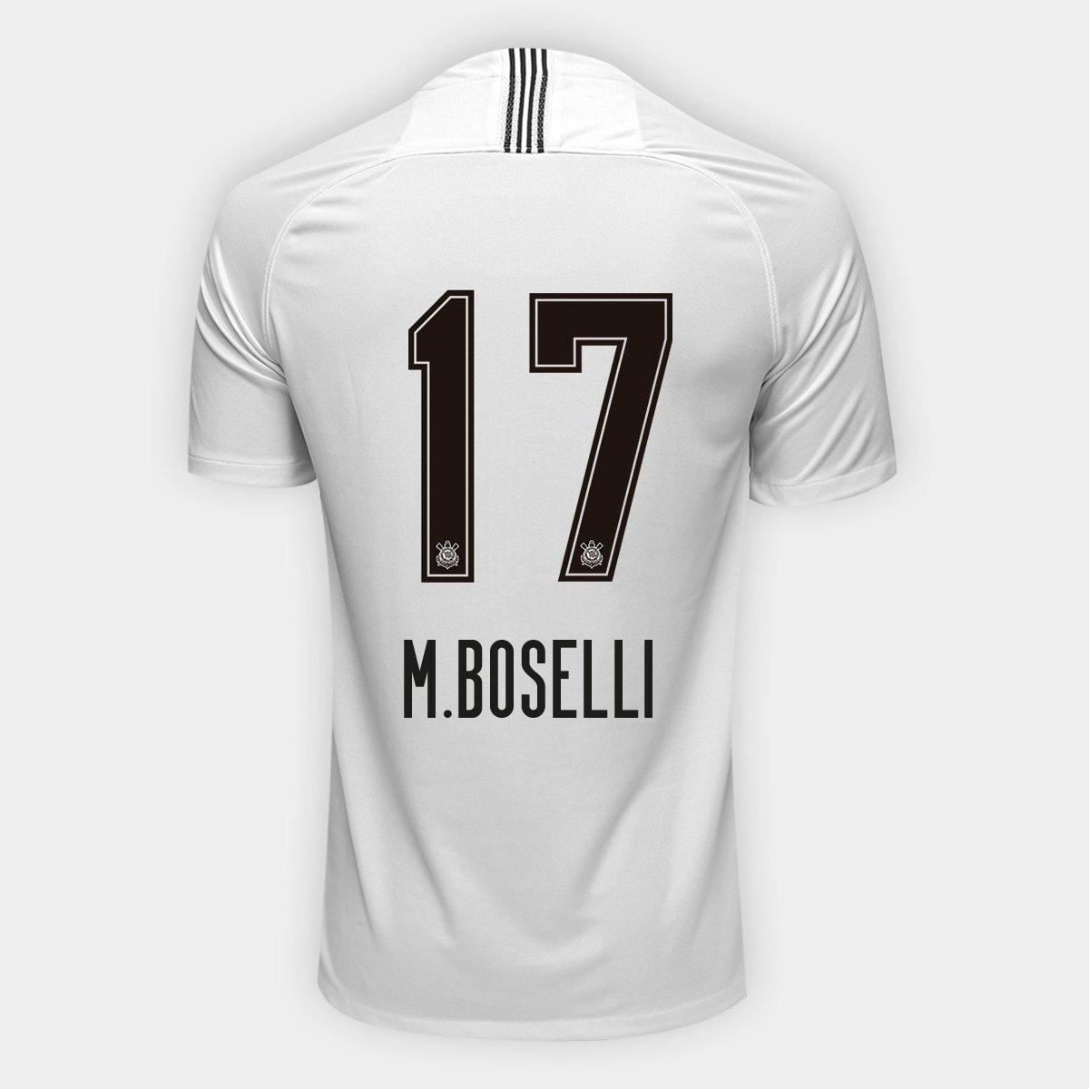 Camisa Corinthians I 18 19 n° 17 - M.Boselli Torcedor Nike Masculina ... 06860ed7dc8ca