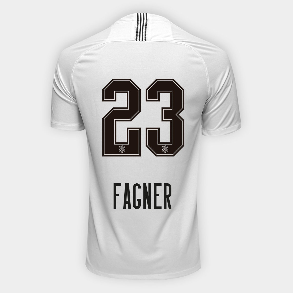 Camisa Corinthians I 18 19 Nº 23 Fagner - Torcedor Nike Masculina ... 2b660cae39bd5