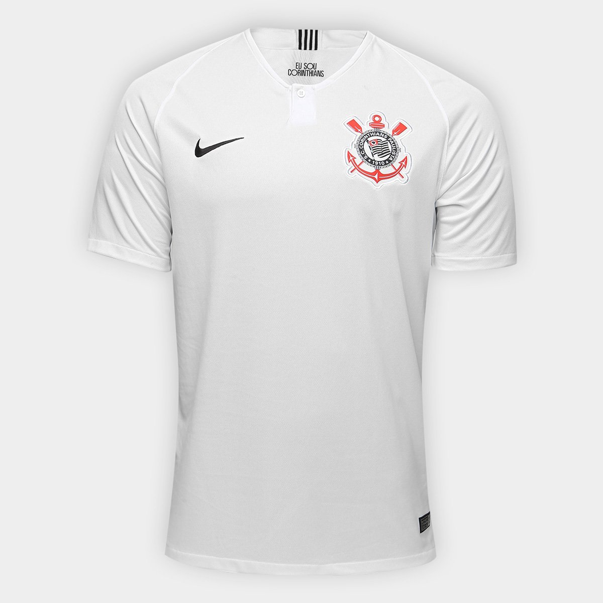 bd88399ba Camisa Corinthians I 18 19 s n° Torcedor Nike Masculina - Branco e ...