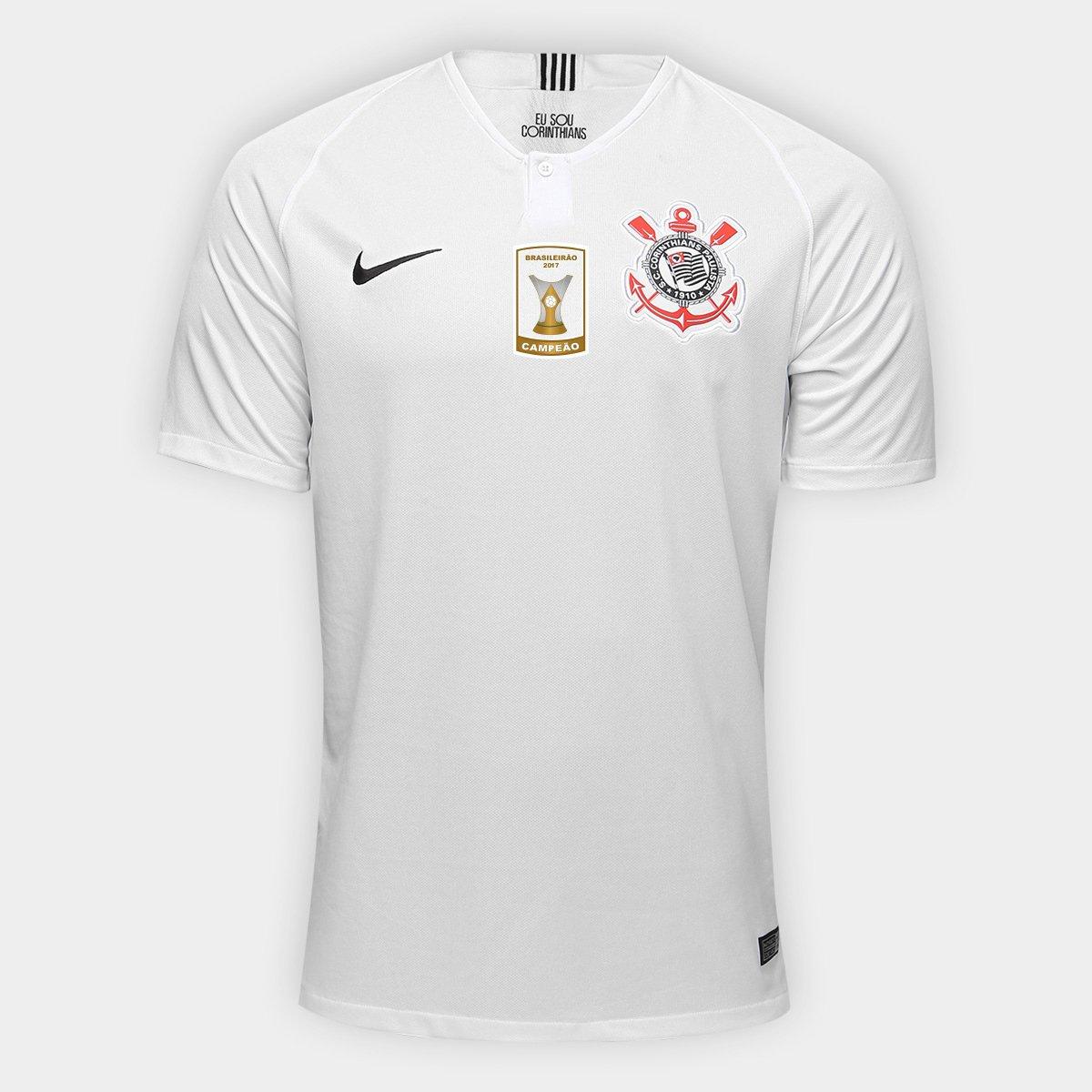 d6f8b4b76 Camisa Corinthians I 18 19 s n° Torcedor Nike - Patch Campeão Brasileiro -  Compre Agora