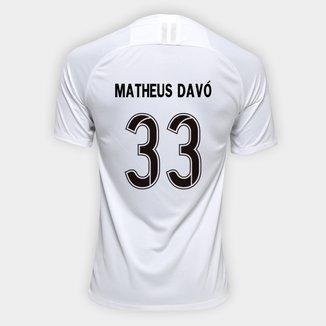Camisa Corinthians I 19/20 - Matheus Davó Nº 33 - Torcedor Nike Masculina