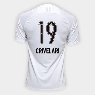 Camisa Corinthians I 19/20 N° 19 Crivelari - Torcedor Nike Masculina