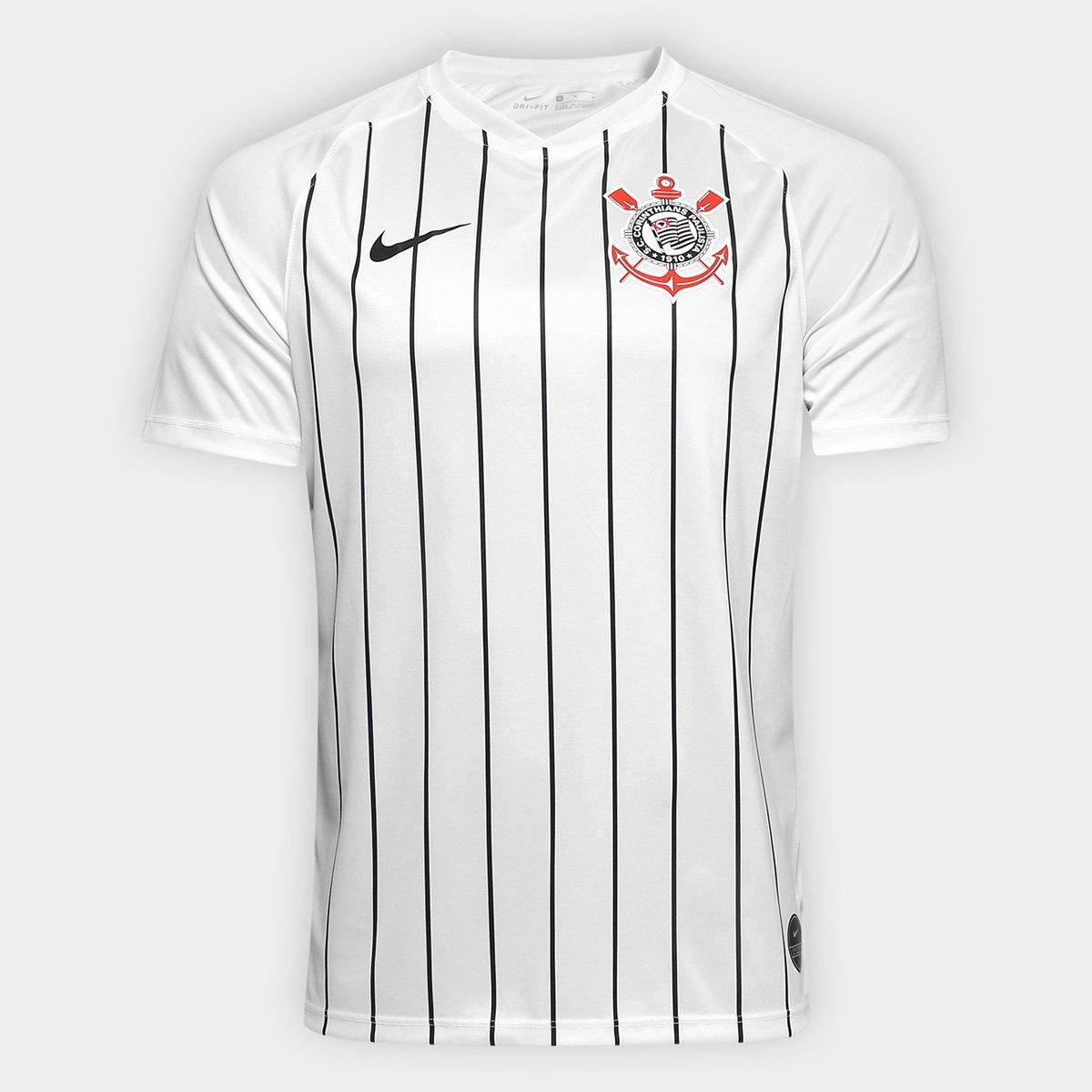 05c147cbad Camisa Corinthians I 19/20 s/nº Estádio Nike Masculina - Branco e Preto |  Shop Timão