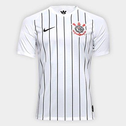 83663608e41ca Camisa Corinthians I 19/20 s/nº Torcedor Nike Masculina - Branco e Preto    Shop Timão