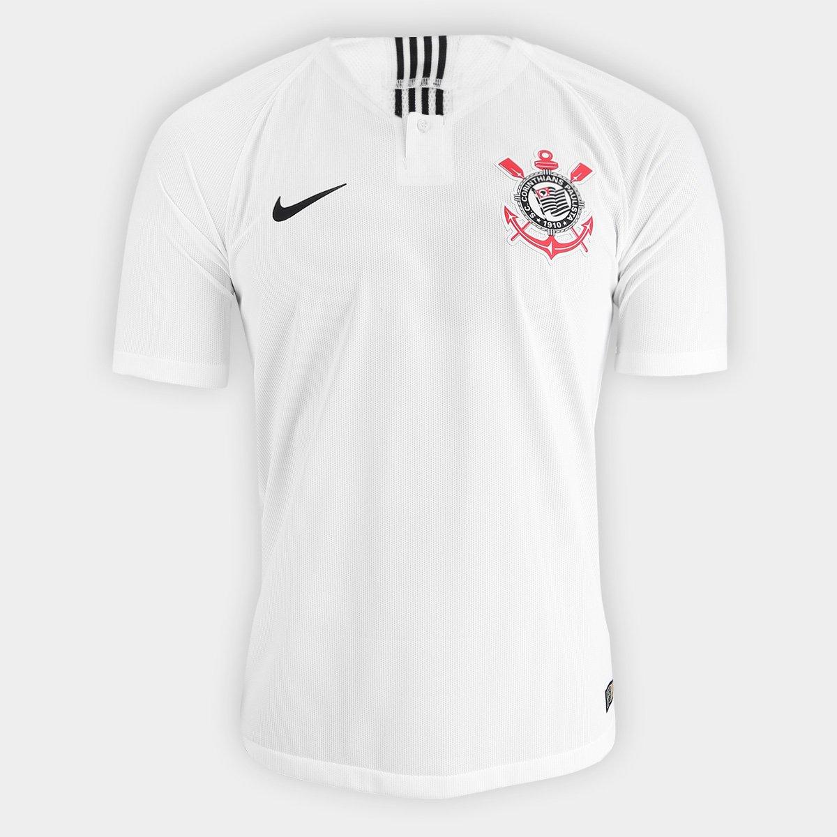 Camisa Corinthians I 2018 s n° - Jogador Nike Masculina - Branco e ... fda16f1315238