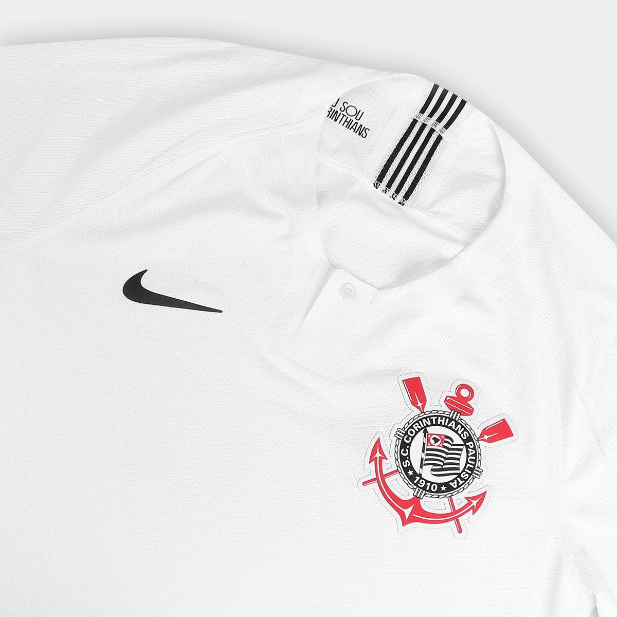 Camisa Corinthians I 2018 s n° - Jogador Nike Masculina - Branco e ... fcdc7991f3d63