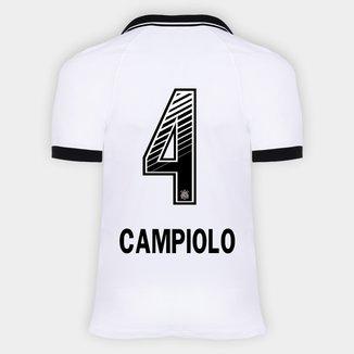 Camisa Corinthians I 20/21 - Campiolo N° 4 - Torcedor Nike Masculina
