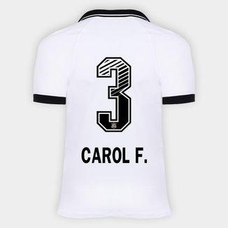 Camisa Corinthians I 20/21 - Carol F. N° 3 - Torcedor Nike Masculina