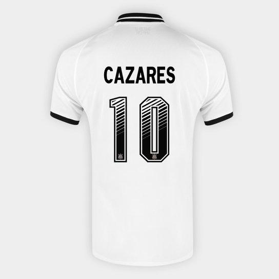 Camisa Corinthians I 20/21 Cazares Nº 10  Torcedor Nike Masculina - Branco+Preto