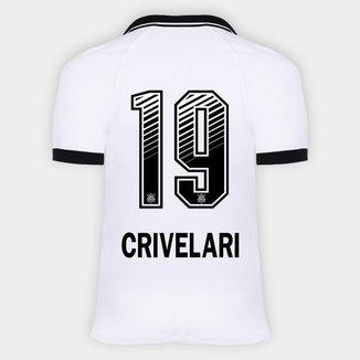 Camisa Corinthians I 20/21 - Crivelari N° 19 - Torcedor Nike Masculina
