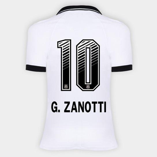 Camisa Corinthians I 20/21 - G. Zanotti N° 10 - Torcedor Nike Feminina - Branco+Preto