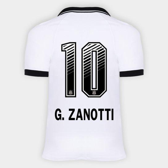 Camisa Corinthians I 20/21 - G. Zanotti N° 10 - Torcedor Nike Masculina - Branco+Preto