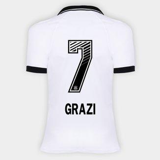 Camisa Corinthians I 20/21 - Grazi N° 7 - Torcedor Nike Feminina