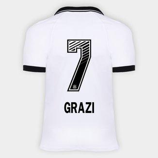 Camisa Corinthians I 20/21 - Grazi N° 7 - Torcedor Nike Masculina