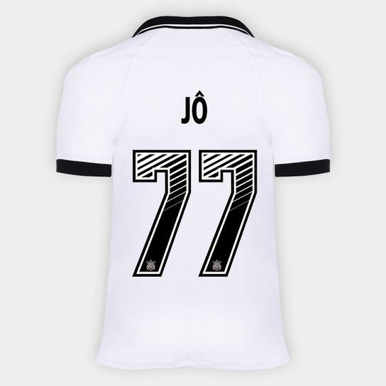 Camisa Corinthians I 20/21 - Jô Nº 77 - Torcedor Nike Masculina - Branco+Preto
