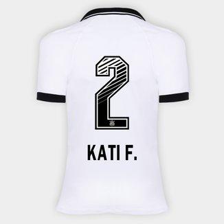 Camisa Corinthians I 20/21 - Kati F. N° 2 - Torcedor Nike Feminina