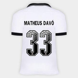 Camisa Corinthians I 20/21 - Matheus Davó Nº 33 - Torcedor Nike Masculina