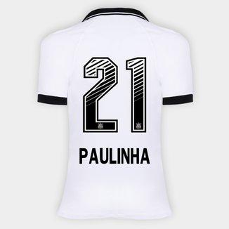Camisa Corinthians I 20/21 - Paulinha N° 21 - Torcedor Nike Feminina