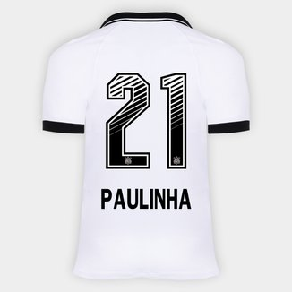 Camisa Corinthians I 20/21 - Paulinha N° 21 - Torcedor Nike Masculina