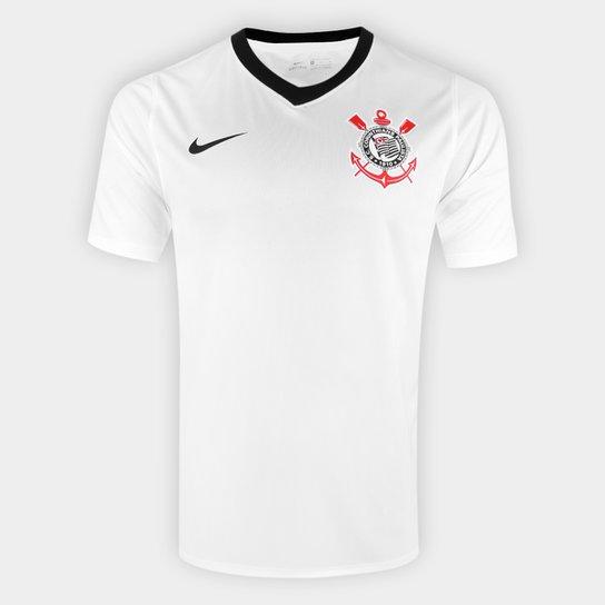 Camisa Corinthians I 20/21 s/n° Estádio Nike Masculina - Branco+Preto