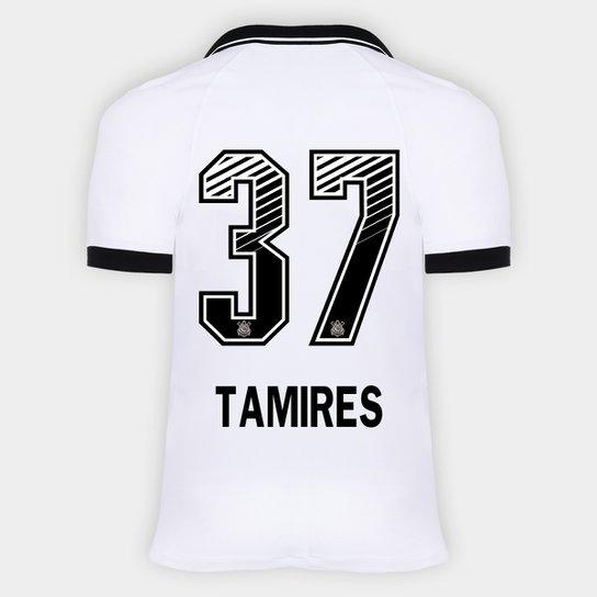 Camisa Corinthians I 20/21 - Tamires N° 37 - Torcedor Nike Masculina - Branco+Preto