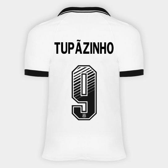 Camisa Corinthians I 20/21 - Tupãzinho Nº 9 - Torcedor Nike Masculina - Branco+Preto