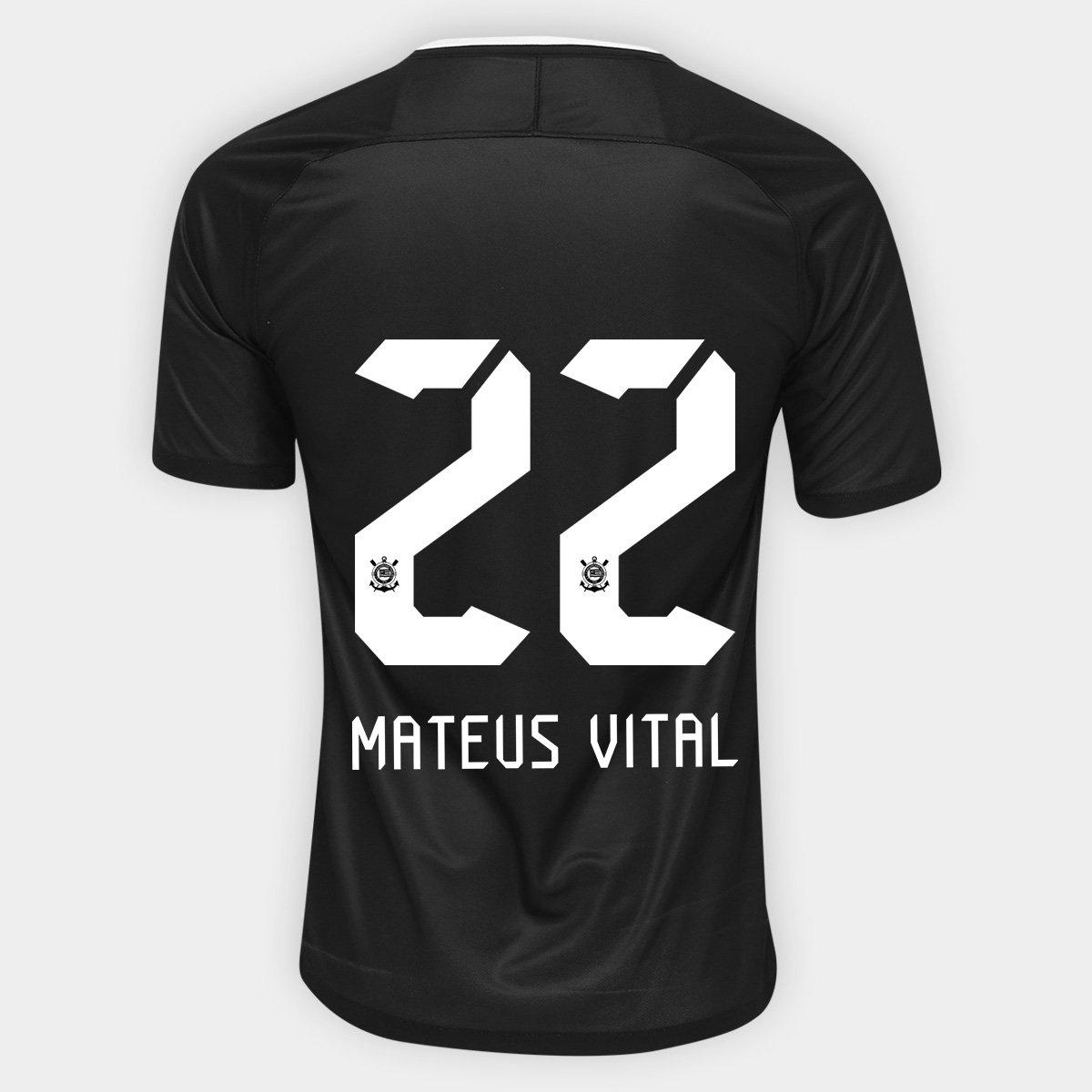 3d1bea3362 Camisa Corinthians II 17 18 nº 22 Mateus Vital - Torcedor Nike Masculina