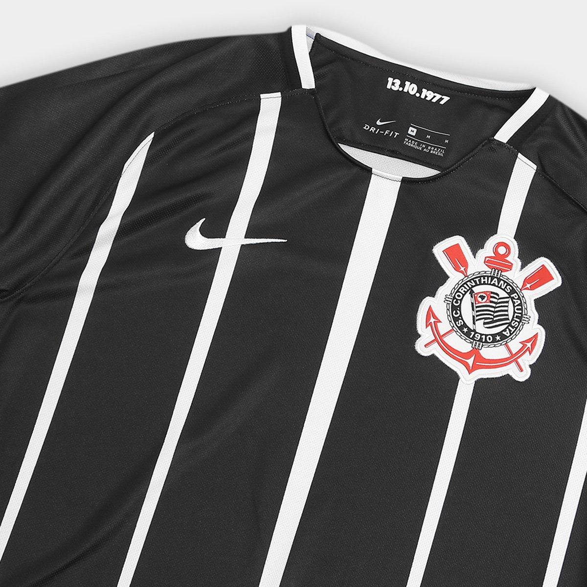 4717af334b Camisa Corinthians II 17 18 s nº Torcedor Nike Masculina - Compre ...