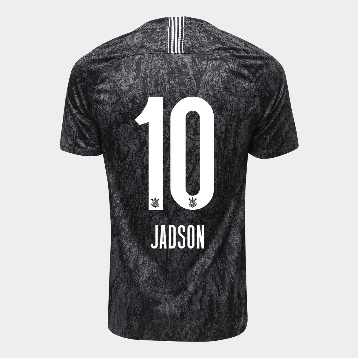 Camisa Corinthians II 18 19 Nº 10 Jadson - Torcedor Nike Masculina - Preto 0e82f95135664