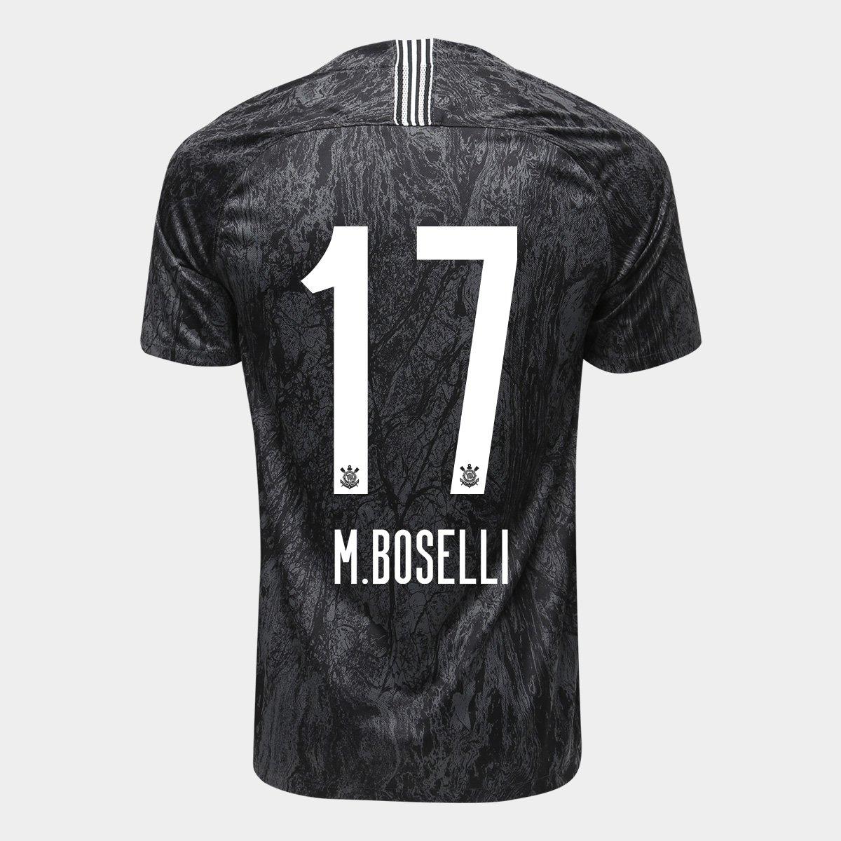Camisa Corinthians II 18 19 n° 17 - M.Boselli Torcedor Nike Masculina 498d83857845a