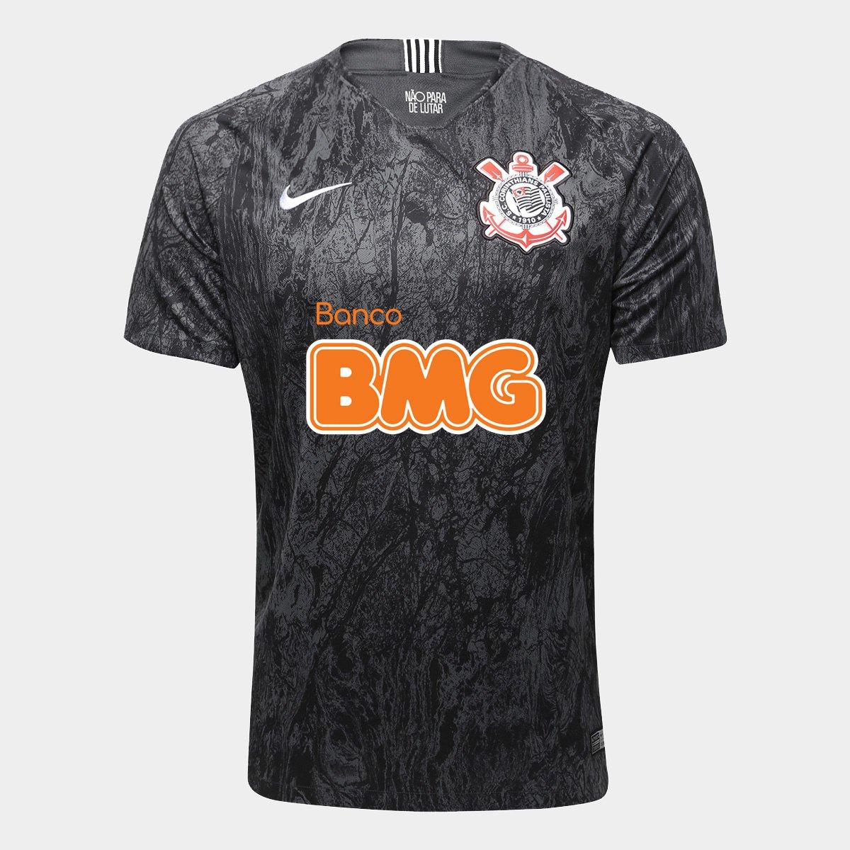 Camisa Corinthians II 18 19 s n° Patrocínio BMG Torcedor Nike Masculina - c313453a1e0b5