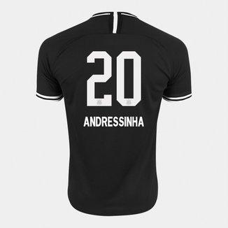 Camisa Corinthians II 19/20 - Andressinha N° 20 - Torcedor Nike Masculina
