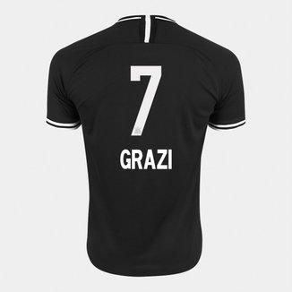 Camisa Corinthians II 19/20 - Grazi N° 7 - Torcedor Nike Masculina