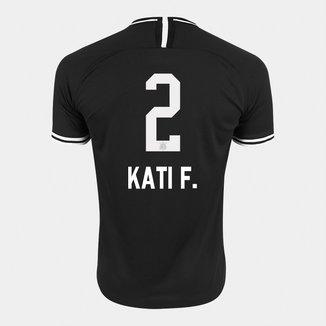 Camisa Corinthians II 19/20 - Kati F. N° 2 - Torcedor Nike Masculina